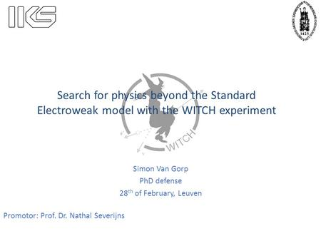 Simon Van Gorp PhD defense 28th of February, Leuven