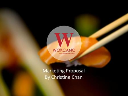 Marketing Proposal By Christine Chan. Excited to share: Overview Consumer Insights Recommendations Excited to share: