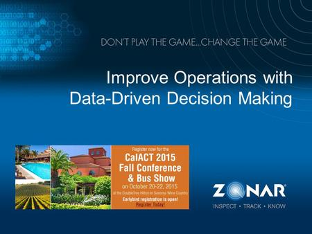 Improve Operations with Data-Driven Decision Making.