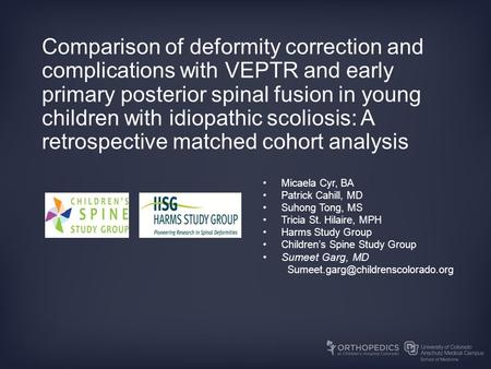 Comparison of deformity correction and complications with VEPTR and early primary posterior spinal fusion in young children with idiopathic scoliosis: