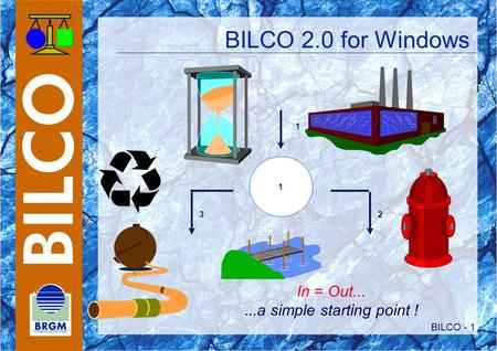BILCO - 1 BILCO 2.0 for Windows 1 1 23 In = Out......a simple starting point !