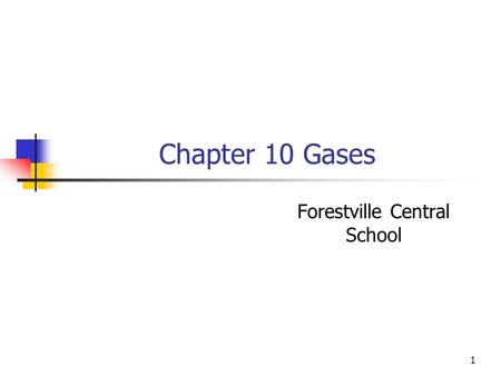 1 Chapter 10 Gases Forestville Central School. 2 Properties of Gases Properties of Gases: 1. Gases have an indefinite shape. 2. Gases can expand. 3. Gases.