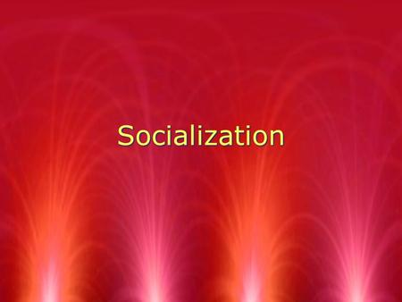 Socialization. The importance of Socialization  1. nearly all human social behavior is learned  2. socialization - cultural process of learning to participate.