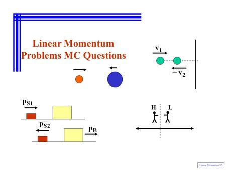 Linear Momentum Problems MC Questions Linear Momentum 07 LH.