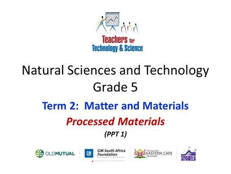 Natural Sciences and Technology Grade 5