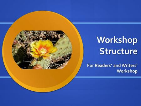 Workshop Structure For Readers' and Writers' Workshop.