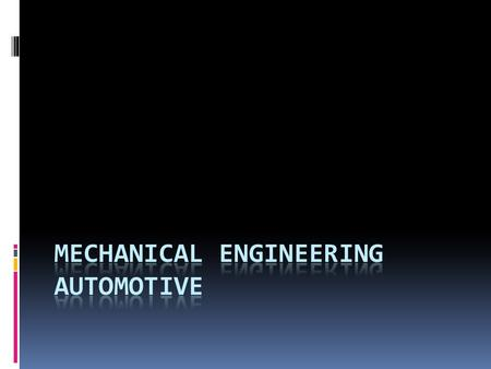 Example of automotive engineers.  Automotive engineers are involved in:  Designing new types of aerodynamic Formula-1 racecars  Developing engines.