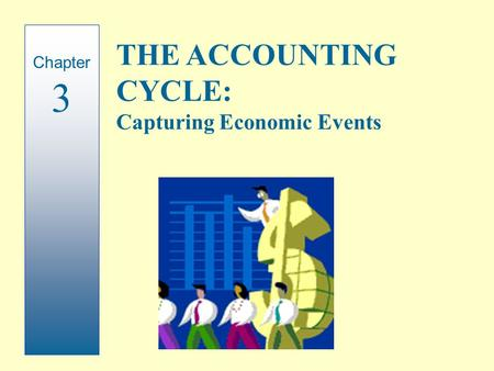 Chapter 3 THE ACCOUNTING CYCLE: Capturing Economic Events.