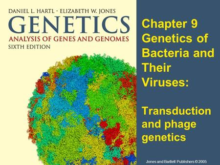 Chapter 9 Genetics of Bacteria and Their Viruses: Transduction and phage genetics Jones and Bartlett Publishers © 2005.