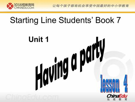 Starting Line Students' Book 7 Unit 1.