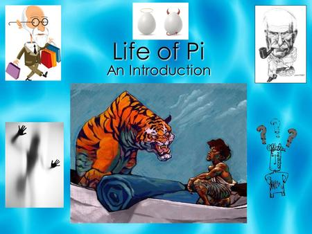 Life of Pi An Introduction. BIOGRAPHY  Yann Martel was born in Spain in 1963.  Parents were Canadian and travelled around the world.  Yann travelled.