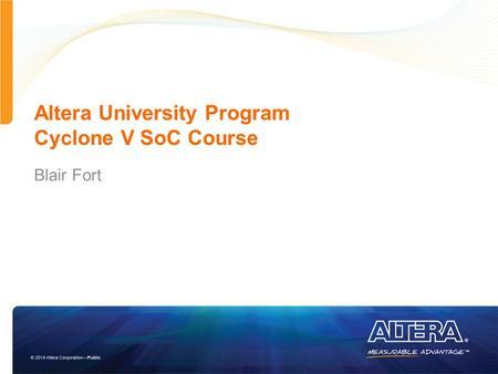Altera university program