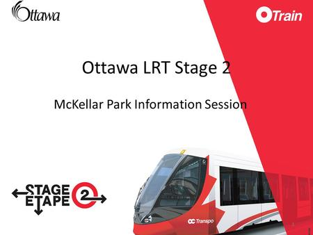 McKellar Park Information Session Ottawa LRT Stage 2 1.