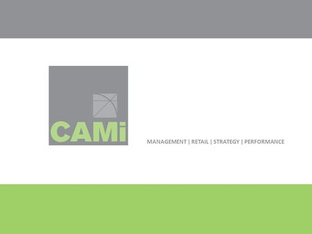 MANAGEMENT | RETAIL | STRATEGY | PERFORMANCE. Insert photo here Cameron + Associates Management Inc. Project Management.