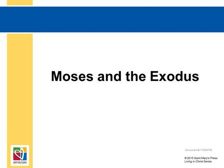 Moses and the Exodus Document #: TX004706. The Book of Exodus Begins... Exodus begins by listing Joseph's descendants and those of his brothers, who came.