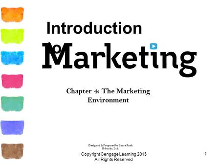 1 Chapter 4: The Marketing Environment Designed & Prepared by Laura Rush B-books, Ltd. Introduction to Copyright Cengage Learning 2013 All Rights Reserved.