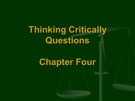 "Thinking Critically Questions Chapter Four. Self-Incrimination Should a person be allowed to take the ""fifth?"" Does a defendant have the right not to."