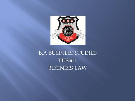 B.A BUSINESS STUDIES BUS361 BUSINESS LAW.  Critically discuss the advantages and disadvantages of the doctrine of judicial precedent.  Critically discuss.
