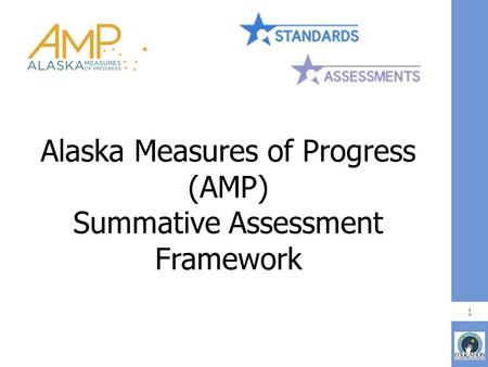 Alaska Measures of Progress (AMP) Summative Assessment Framework 1.