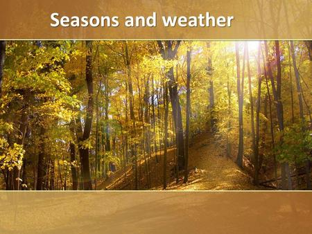 ProPowerPoint.ru Seasons and weather Seasons and weather.