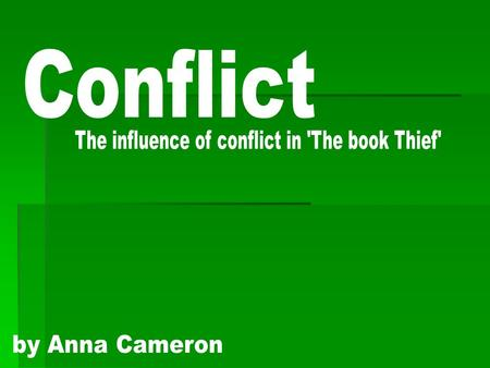 Conflict is a natural occurrence in every human beings life and is usually viewed as a negative improper way of dealing with situations. I believe in.