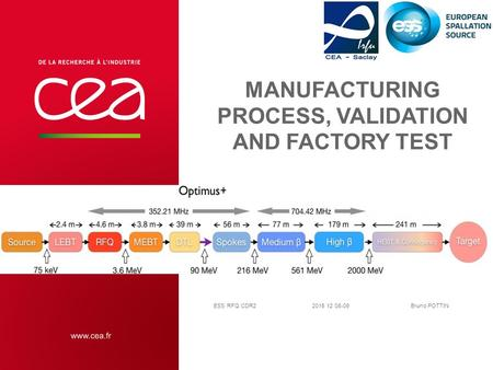 Manufacturing process, validation and factory test