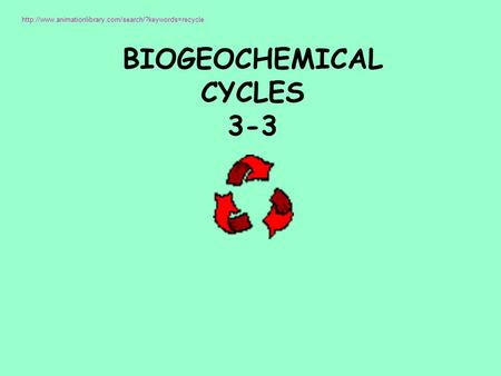 BIOGEOCHEMICAL CYCLES 3-3