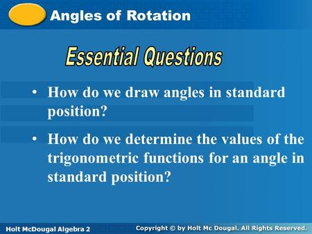 How do we draw angles in standard position?