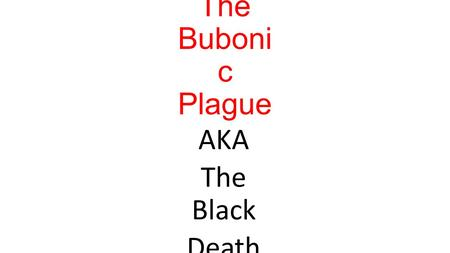 The Buboni c Plague AKA The Black Death. What your Doctor might look like if you had the plague in the middle ages!