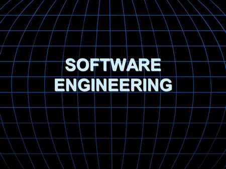 SOFTWARE ENGINEERING. Objectives Have a basic understanding of the origins of Software development, in particular the problems faced in the Software Crisis.