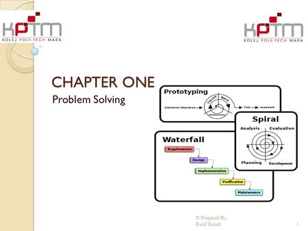 CHAPTER ONE Problem Solving © Prepared By: Razif Razali1.