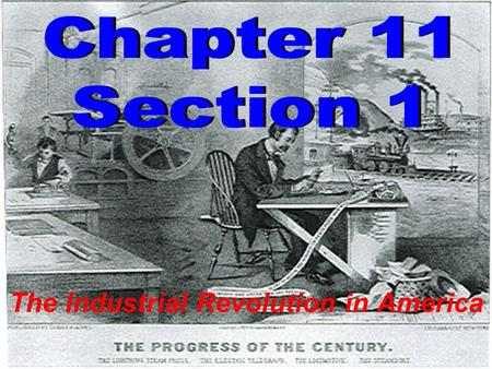 The Industrial Revolution in America. What was the Industrial Revolution? 1.