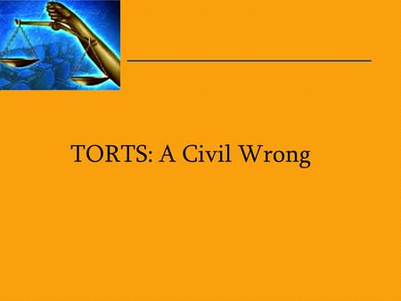 TORTS: A Civil Wrong. Fairplay.org What is a Tort? A civil wrong A breach of some obligation Causing harm or injury to someone –Negligence –Libel Plaintiff.