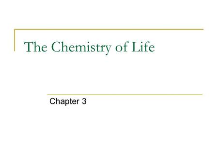 The Chemistry of Life Chapter 3. 3-1: Matter and Substances.
