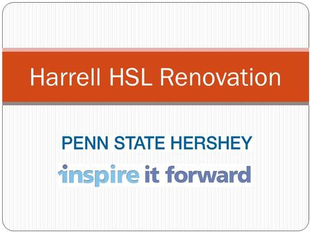 Harrell HSL Renovation. Current Issues Lack of adequate technology infrastructure Poor space utilization Inflexible study spaces, lack of small study.