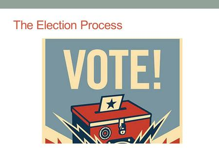 The Election Process. Steps 1. Announcement 2. State caucuses or primaries 3. Conventions 4. Nomination 5. General election 6. Electoral college votes.