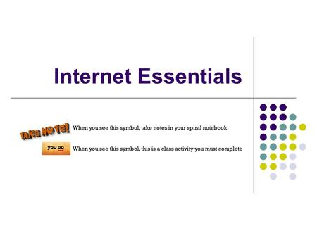Internet Essentials. The History of the Internet The Internet started when the Advanced Research Projects Agency (ARPA) of the United States Defense Department.