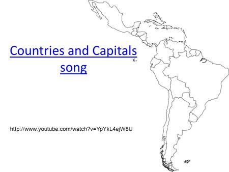 Countries and Capitals song