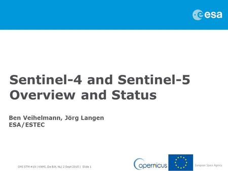 Sentinel-4 and Sentinel-5 Overview and Status
