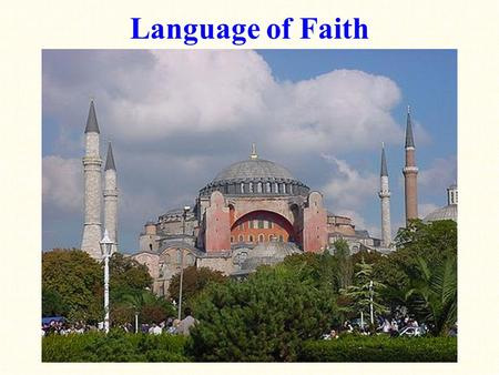 Language of Faith. Language of Faith: a brief history of the fall of the Roman Empire-- Diocletian divided the Empire into two administrative regions.