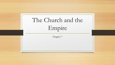 The Church and the Empire Chapter 7. Pope Gregory 114-115.
