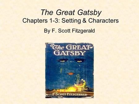 an examination of specified passages of the great gatsby by f scott fitzgerald The great gatsby by f scott fitzgerald the manuscript in the author's own handwriting limited edition, copies hand-numbered from 1 to 1,800 sp books.