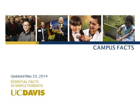 CAMPUS FACTS ESSENTIAL FACTS IN SIMPLE FORMATS Updated May 23, 2014.