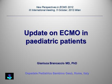 Update on ECMO in paediatric patients