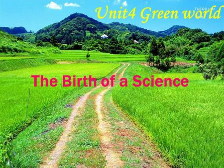 Unit4 Green world The Birth of a Science Warming up Look at the pictures and match each flower with its correct name.