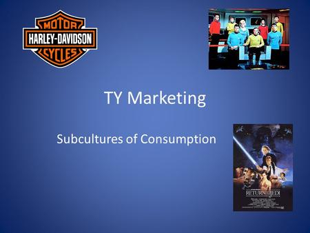 TY Marketing Subcultures of Consumption. What is a subculture? Sometimes consumers can become brand loyal whereby they always buy a particular brand of.