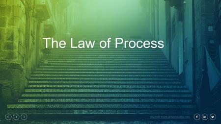 Discover more at brentcolby.com 1 The Law of Process.