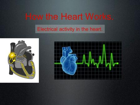 How the Heart Works. Electrical activity in the heart.