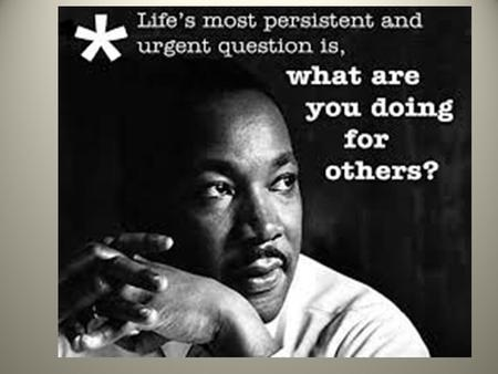 Martin Luther King, Jr. Day of Service Friday, January 15th.