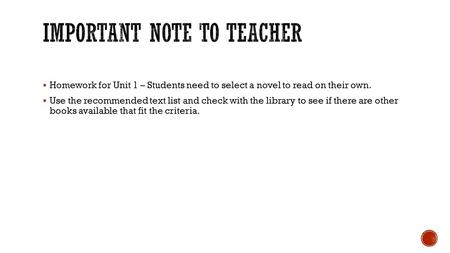 how to get students to read their novel